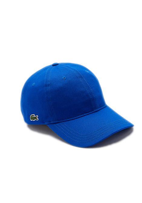 Cappelllo in cotone blu LACOSTE | Cappello | RK4709HJM
