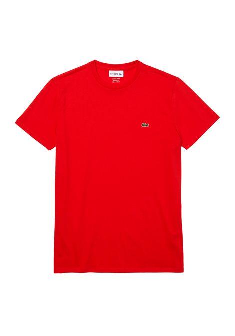 T-shirt a girocollo rossa LACOSTE | T-shirt | TH6709F8M
