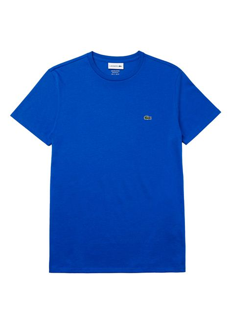 T-shirt a girocollo blu elettrico LACOSTE | T-shirt | TH6709HJM