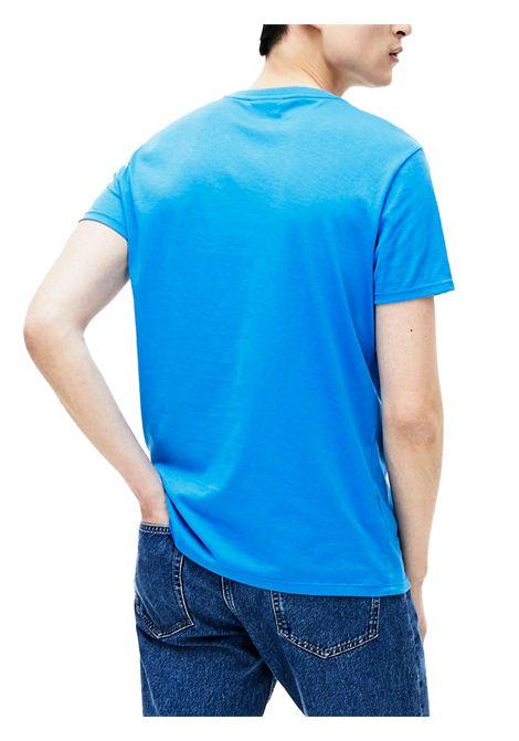 T-shirt a girocollo azzurra LACOSTE | T-shirt | TH6709PTV