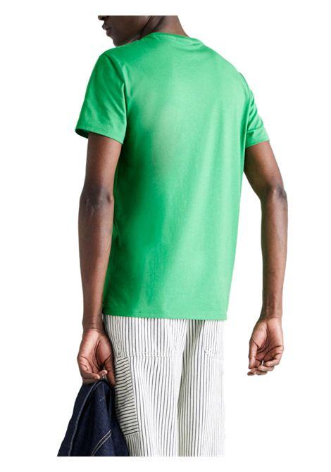 T-shirt a girocollo verde LACOSTE | T-shirt | TH6709QMN