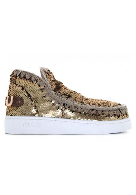 Eskimo sneaker all sequins MOU | Scarpe | MU.SW211001G/GOLMGOLD