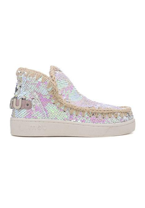 Eskimo sneaker all sequins MOU | Scarpe | MU.SW211001G/IRIPINPINK