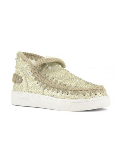 Eskimo sneaker all sequins MOU | Scarpe | MU.SW211001G/SEQCHCHALK