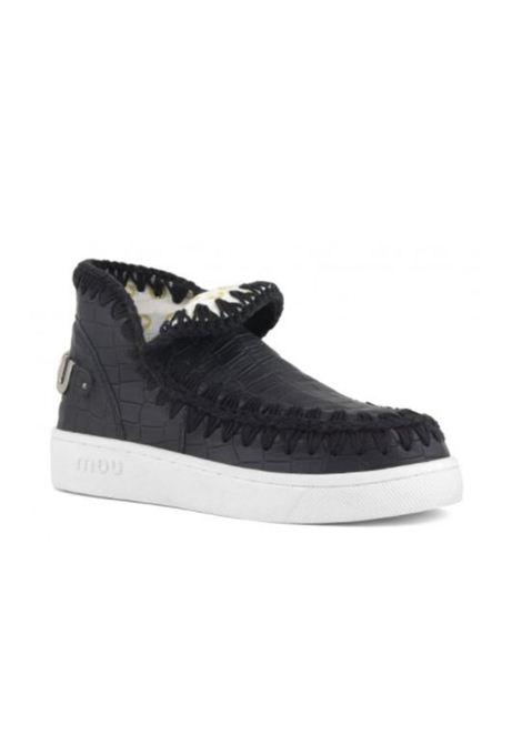 Eskimo sneaker special italian leather MOU | Scarpe | MU.SW211001R/COCBLBLACK
