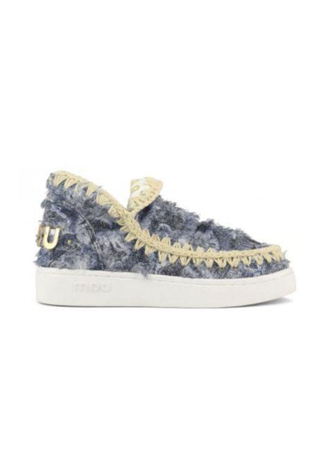 Denim patchwork sneaker MOU | Scarpe | MU.SW211012S/DPTCHDENIM PATCH