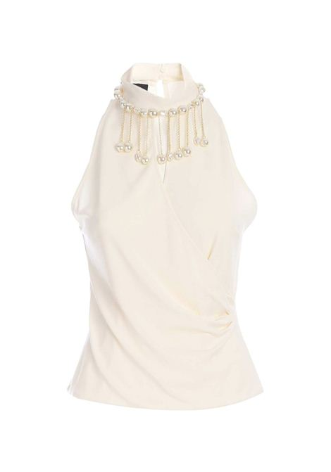 Pinko top with big pearls PINKO | Top | 1G15VK-Y6X3Z14