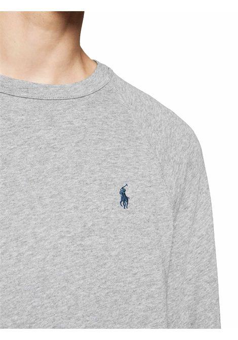 Felpa a giro collo grigia con logo RALPH LAUREN | Pullover | 710-644952023