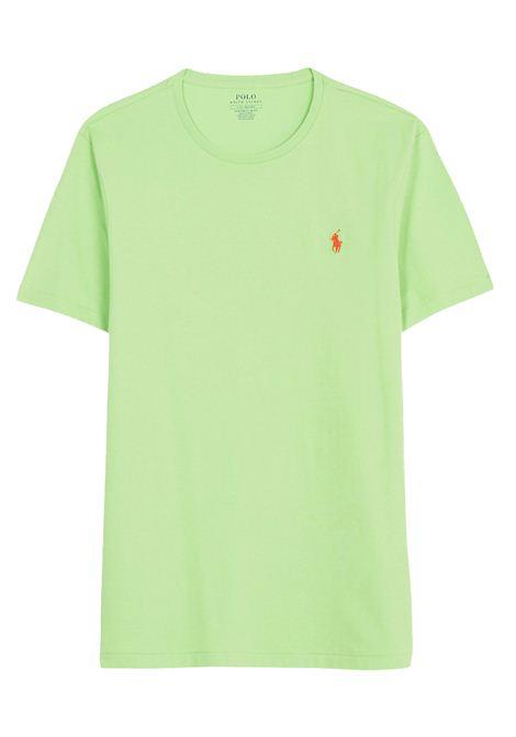 T-shirt verde girocollo slimfit RALPH LAUREN | T-shirt | 710-671438215