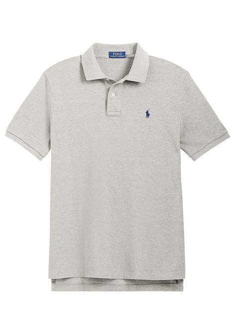 Polo regular in cotone grigia RALPH LAUREN | Polo | 710-795080005
