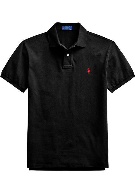 Polo regular in cotone nero RALPH LAUREN | Polo | 710-795080006