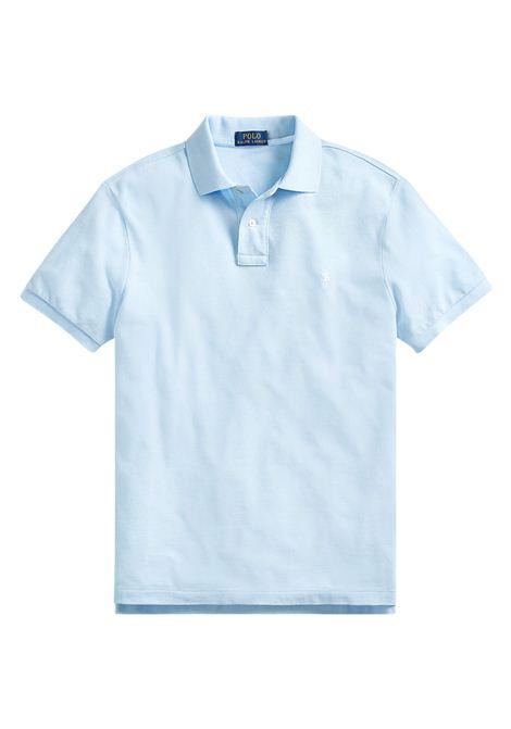 Polo regular in cotone celeste RALPH LAUREN | Polo | 710-795080016