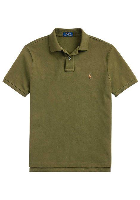 Polo regular in cotone verde RALPH LAUREN | Polo | 710-795080017