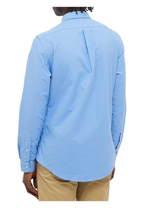 Camicia celeste con logo RALPH LAUREN | Camicia | 710-804257015