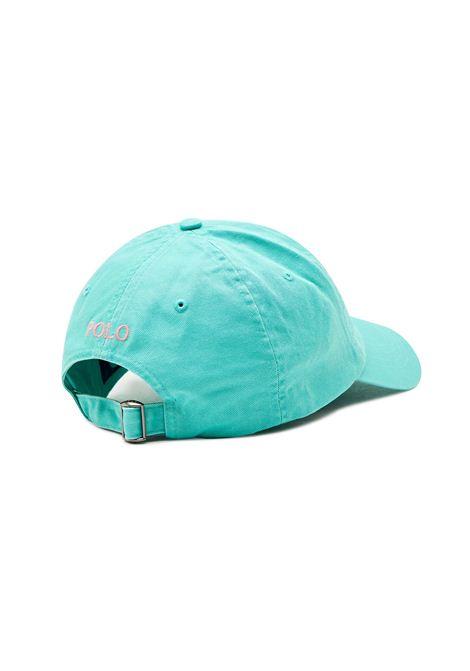Cappello con visiera turchese RALPH LAUREN   Cappello   710-811338003