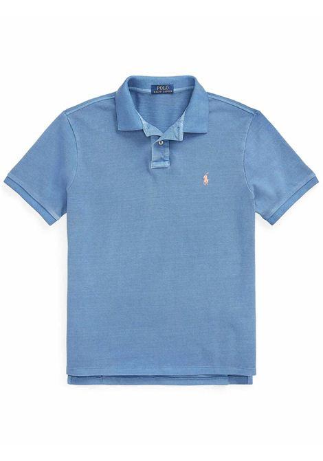 Polo piquè slim fit blu chiaro RALPH LAUREN | Polo | 710-814416015