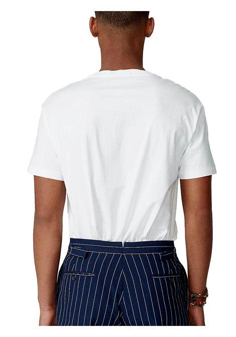 T-shirt bianca con stampa RALPH LAUREN | T-shirt | 710-837306002