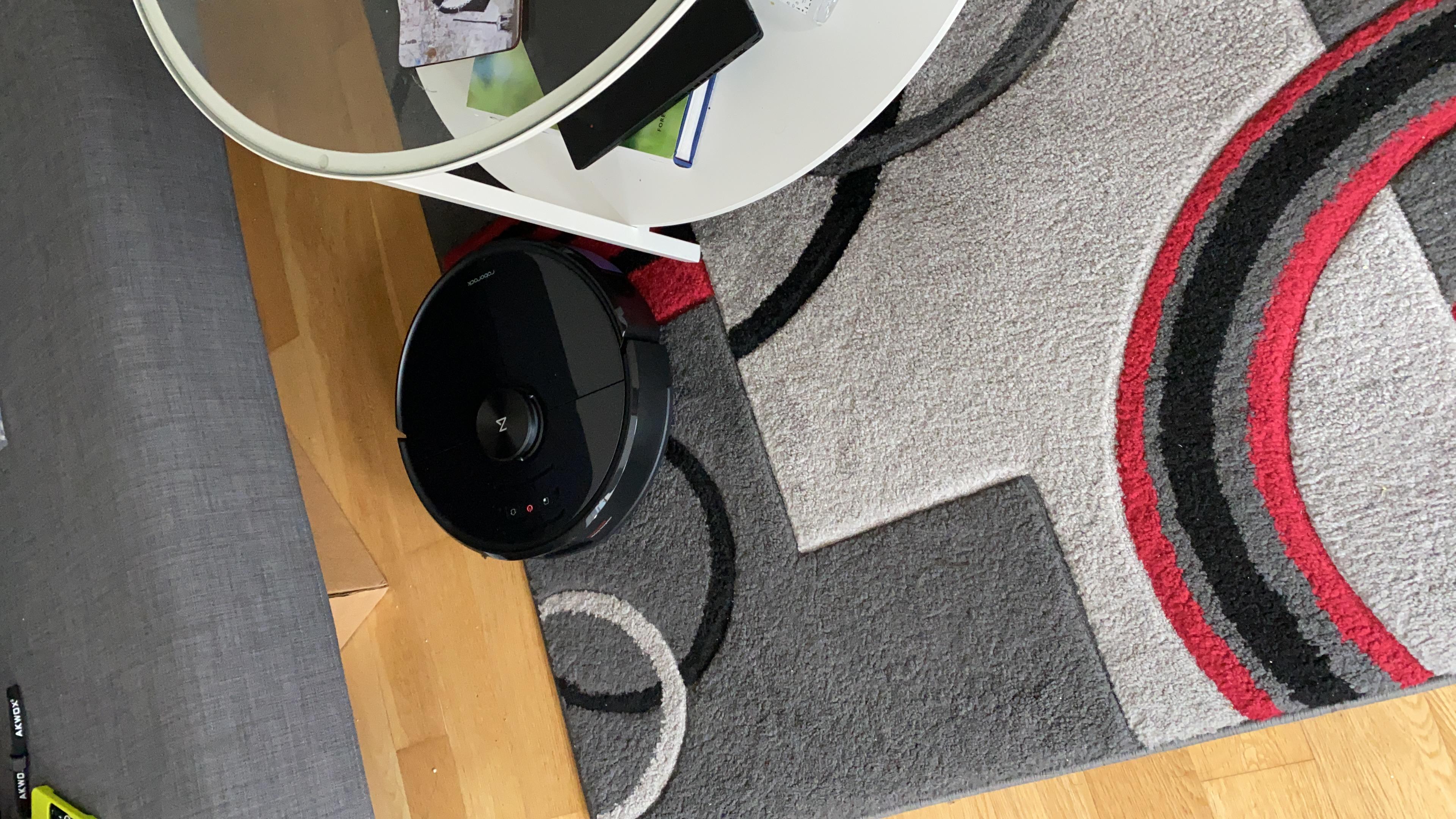roborock gray carpet problem