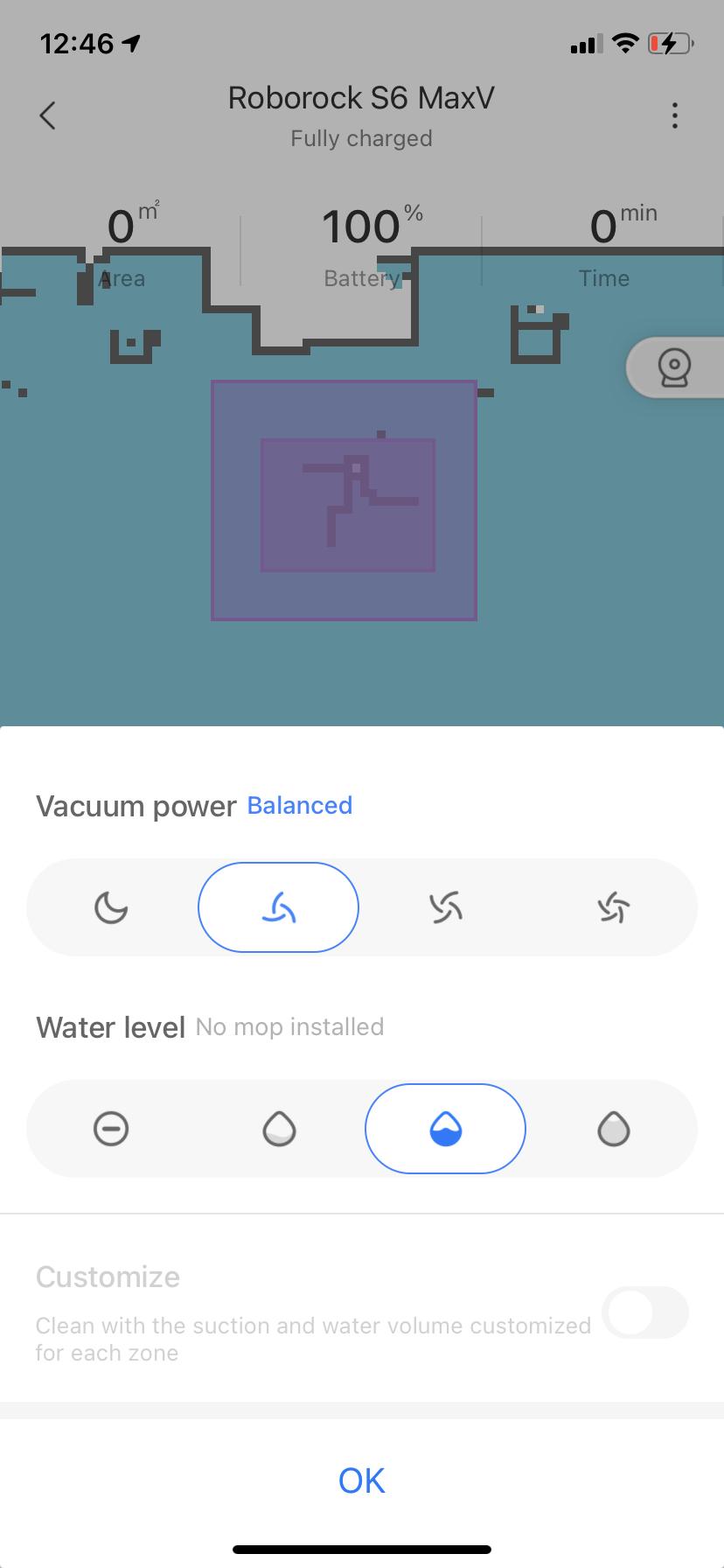 Roborock S6 MaxV Vacuum App