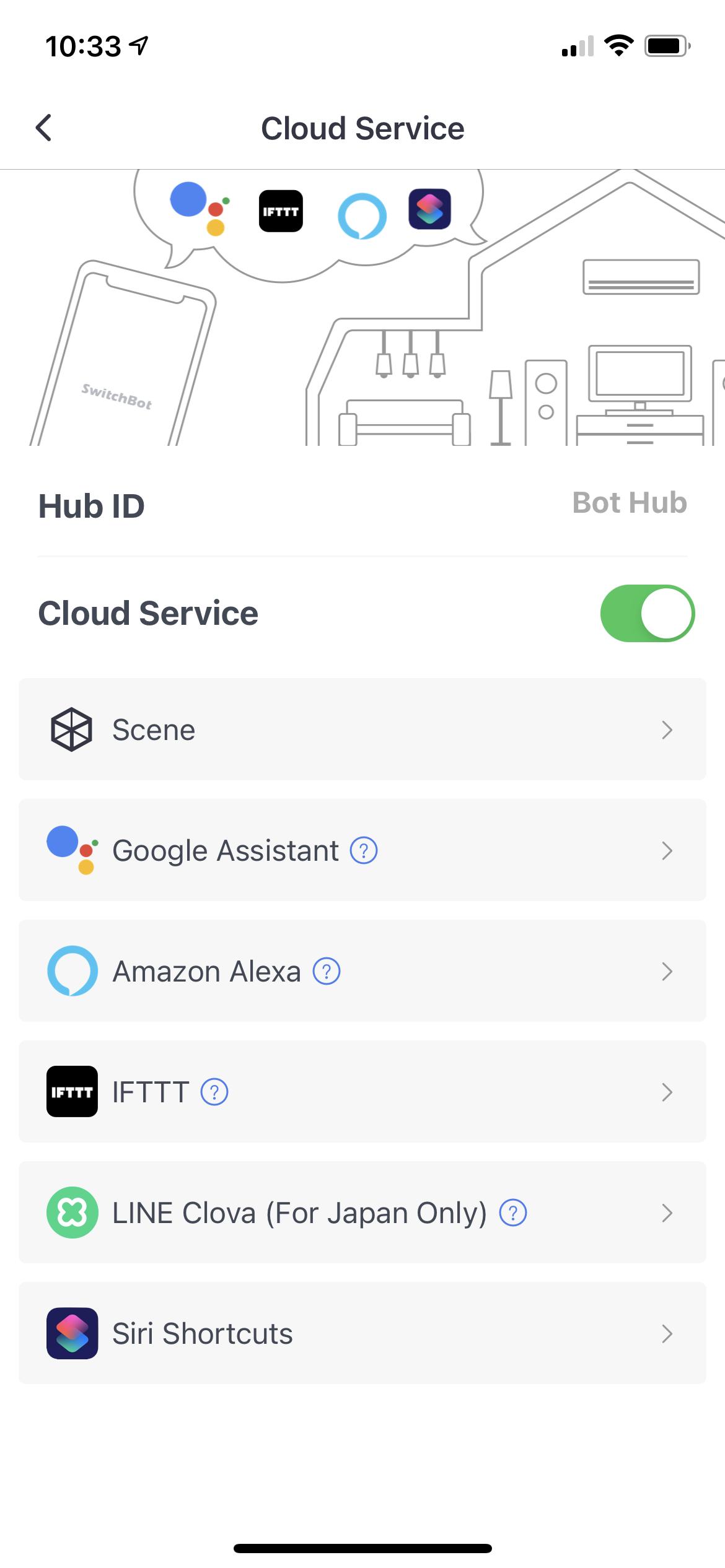 switchbot app alexa cloud