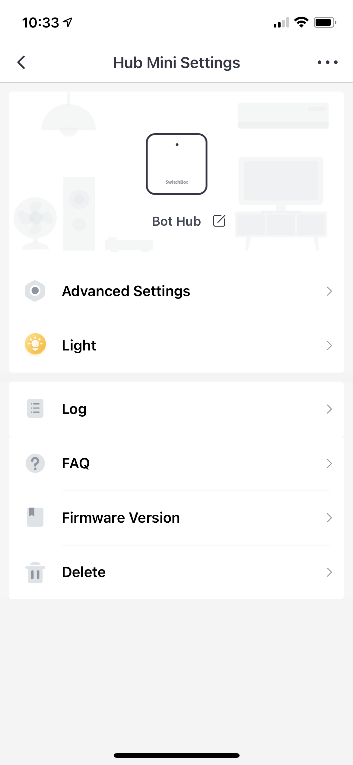 switchbot app hub