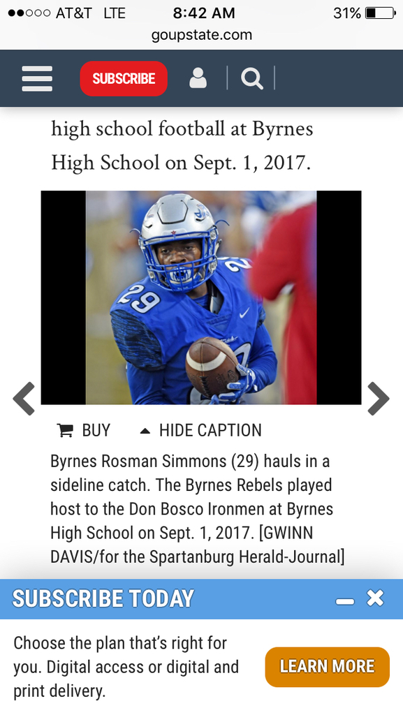 james f byrnes football