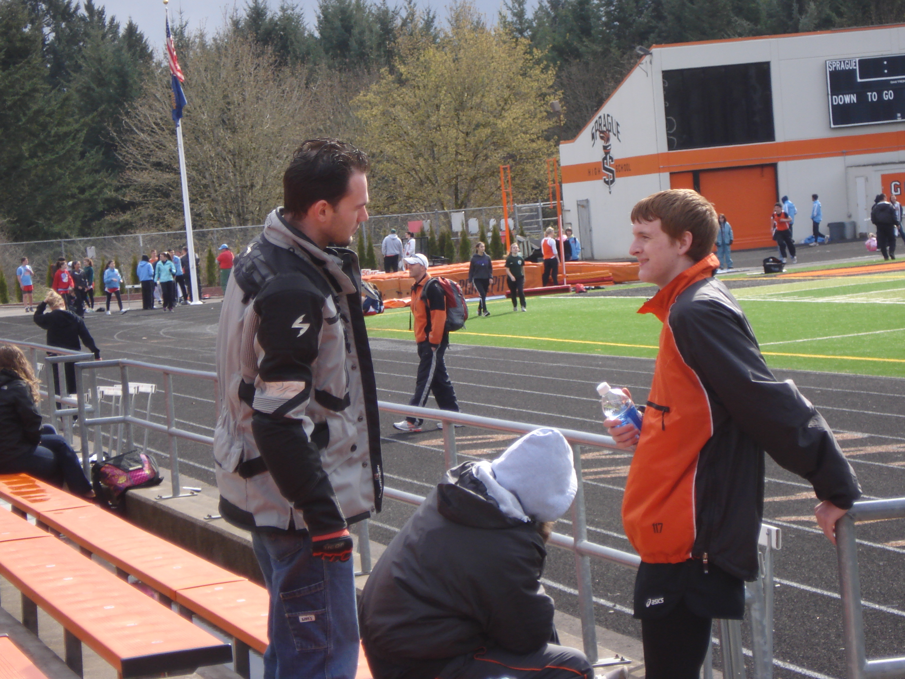 My stepdad, Nick Shatlaw and I at a meet