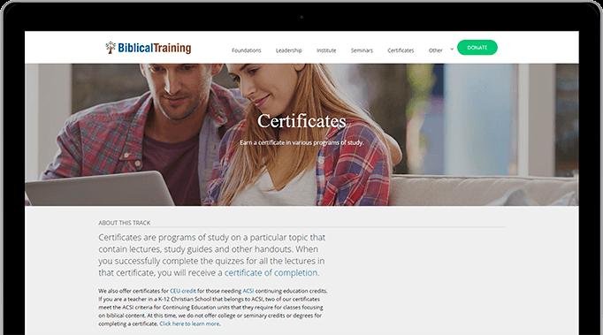 Earn a certificate