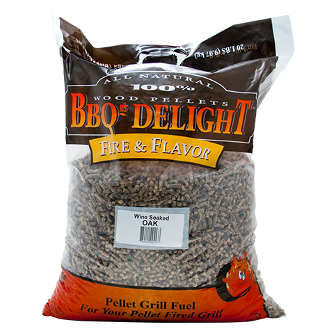 BBQr's Delight Wine Oak Soaked Pellets