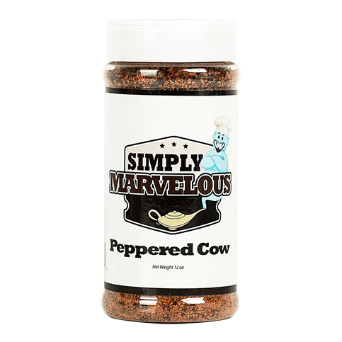 Simply Marvelous BBQ Rub Peppered Cow - 13oz