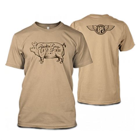 Smokin' Easy Big Poppa Smokers Pig T-Shirt