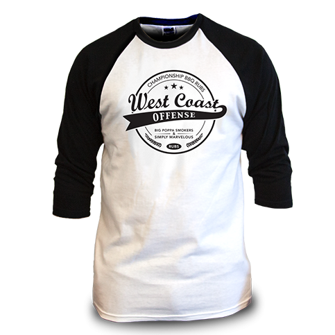 West Coast Offense Baseball T-Shirt
