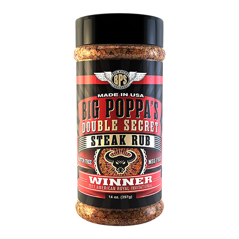 Big Poppa's Double Secret Steak Rub - 14oz
