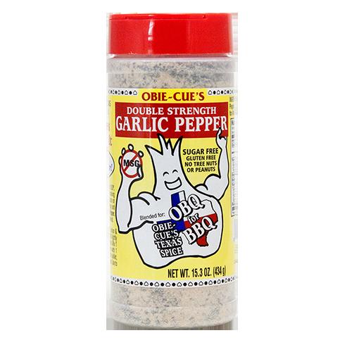Obie-Cue Garlic Pepper Rub & Seasoning - 15.3oz