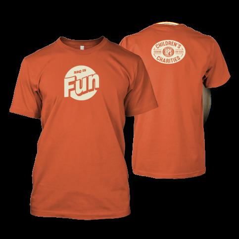 BBQ is Fun Orange T-shirt