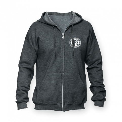 BPS Dark Heather Zip-up Hoodie