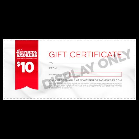BPS GIFT CERTIFICATE - $10