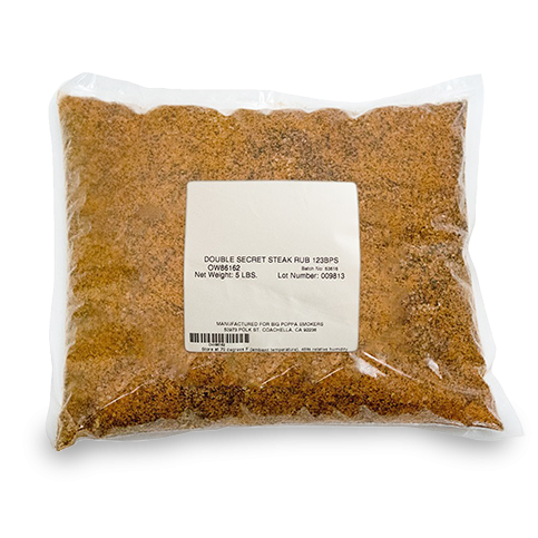 Big Poppa's Double Secret Steak Rub - 5lb Bag