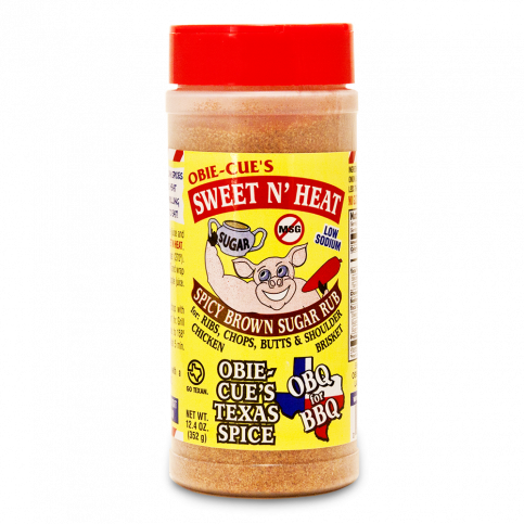 Obie-Cue's Sweet N' Heat BBQ Rub - 12.4oz