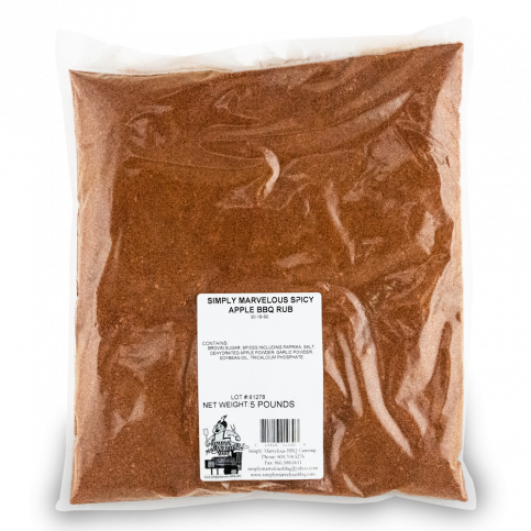 Simply Marvelous BBQ Spicy Apple BBQ Rub - 5lb Bag