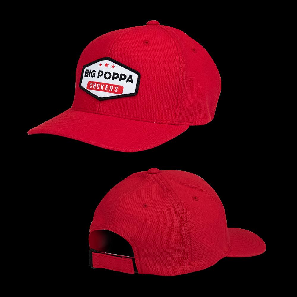 9142b8617ca Big Poppa Smokers Red Vintage Patch Hat - Flexfit