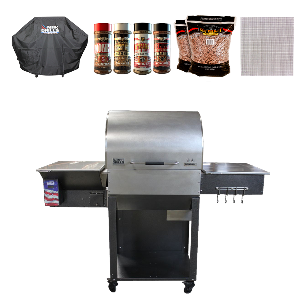 MAK 2 Star General Pellet Grill Special 2016 Model w/ FlashFire Igniter