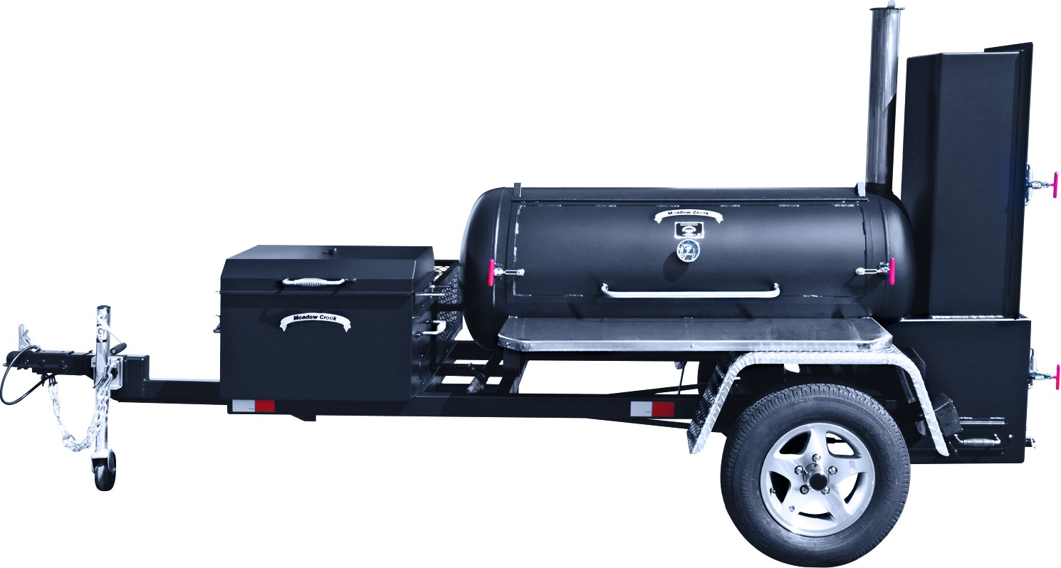 meadow creek bbq ts120 trailer bbq smoker big poppa. Black Bedroom Furniture Sets. Home Design Ideas
