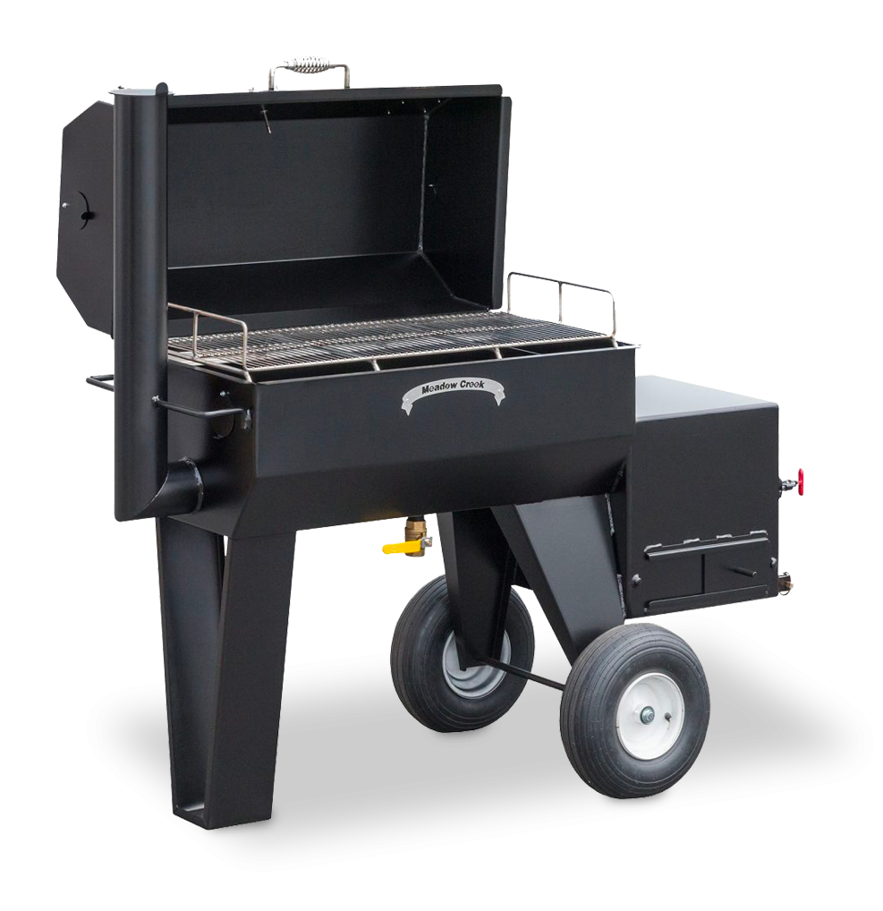 meadow creek sq36 offset smoker bbq grill big poppa smokers. Black Bedroom Furniture Sets. Home Design Ideas