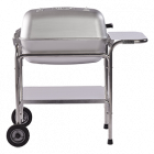 PK Portable Kitchen Charcoal Grill and Smoker - Classic Silver