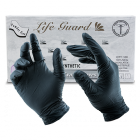 Black LifeGuard Nitrile Food Gloves  - Large