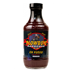 Plowboys En Fuego Spicy BBQ Sauce - 16oz