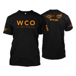 West Coast Offense BBQ Black & Orange T-shirt