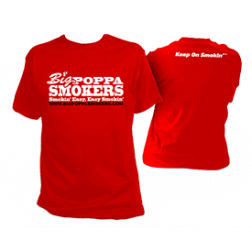 Big Poppa Smokers Red T-Shirt