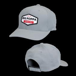 Big Poppa Smokers Grey Vintage Patch Hat - Flexfit